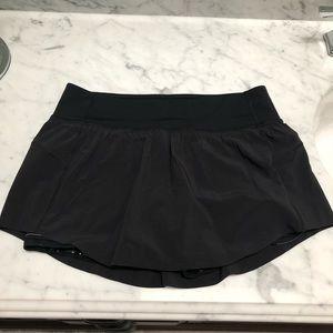Black Lululemon Final Lap Skirt